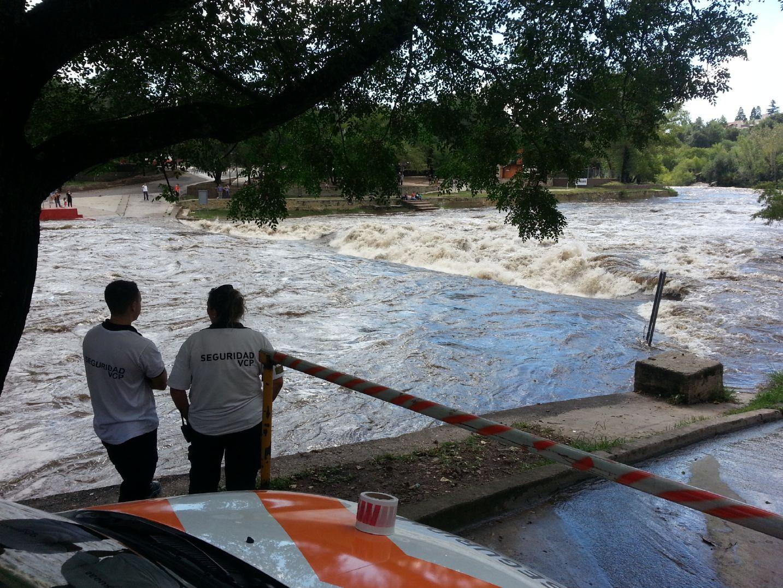 Carlos Paz: el río San Antonio creció 3,80 metros